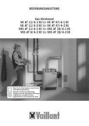 Gas-Heizkessel VK AT 11/6-1 XE bis VK AT 47/6-1 XE VK ... - Vaillant
