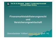 Finanzmarktstabilisierungsrecht und Versicherungswirtschaft