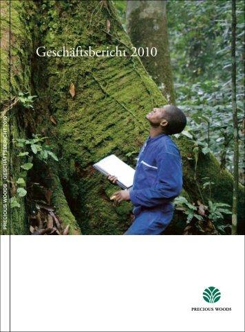 Geschäftsbericht 2010 - Precious Woods