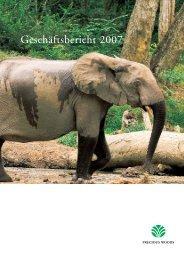 Geschäftsbericht 2007 - Precious Woods