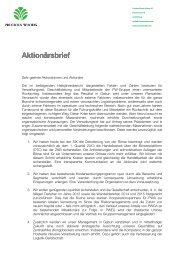 Aktionärsbrief zum Halbjahresbericht 2012 - Precious Woods