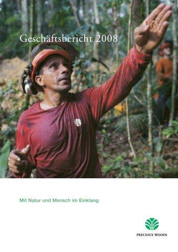 Geschäftsbericht 2008 - Precious Woods