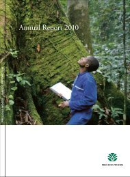 Annual Report 2010 - Precious Woods