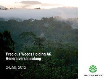 Präsentation (PDF) - Precious Woods