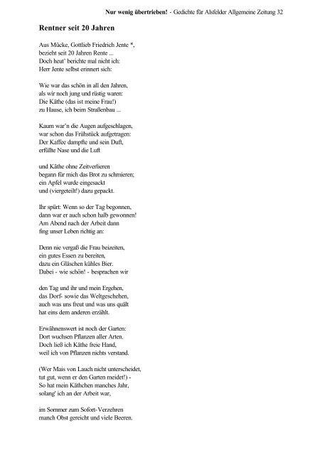 Gedichte Für Rentner Verse Und Gedichte Zum Ruhestand Zur