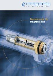 Bauelemente für Magnetventile - Prefag