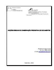 curso sobre de conservação preventiva de documentos - Fiocruz