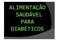 Alimentaçao saudável para diabéticos - Prefeitura de São Paulo