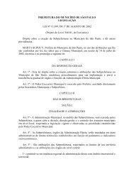 Lei nº 13.399 - Subprefeituras - Prefeitura de São Paulo