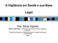 Vigilância em Saúde e sua Base Legal - Prefeitura de São Paulo