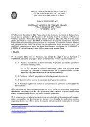 Confira o edital na íntegra - Prefeitura de São Paulo