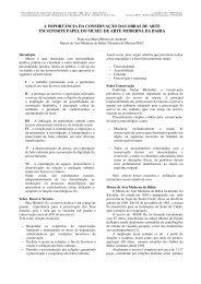 a importancia da conservacao das obras de - Prefeitura de São Paulo