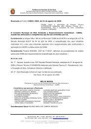 Resolução nº 123/CADES/2008 - Prefeitura de São Paulo