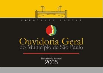 Relatório 2005 - Prefeitura de São Paulo