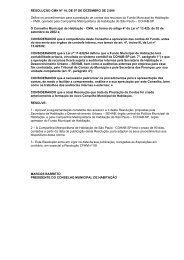 Resolução CMH nº 14 - Prefeitura de São Paulo