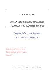 Especificação Técnica de Requisitos - Prefeitura de São Paulo