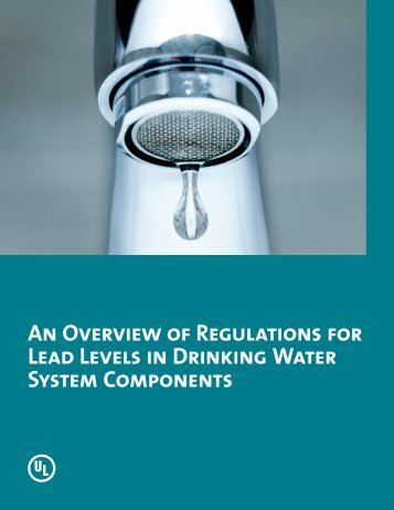 An Overview of Regulations for Lead Levels in Drinking Water ...