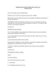 Lei nº 14.029 - Proteção e defesa do usuário - Prefeitura de São Paulo