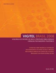 VIGITEL BRASIL 2008 - Secretaria de Estado da Saúde de SC