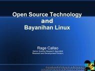 Open Source Technology and Bayanihan Linux - Preginet