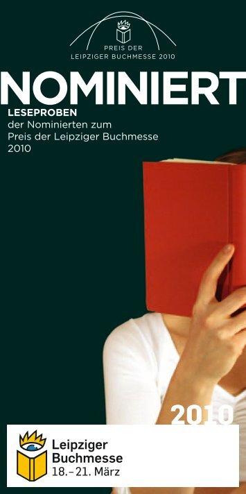 NomiNiert - Preis der Leipziger Buchmesse