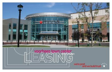 voorhees town center - Pennsylvania Real Estate Investment Trust