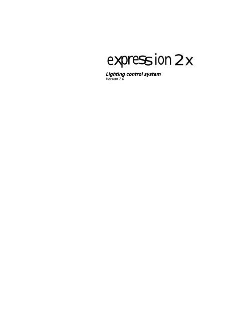 Expression 2x User Manual - ETC