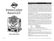 Inno Color Beam LED User Manual - Premier Lighting and ...