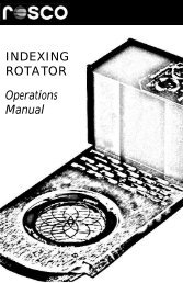 INDEXING ROTATOR Operations Manual - Rosco Laboratories