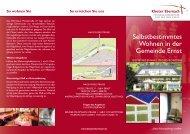 Selbstbestimmtes Wohnen in der Gemeinde ernst - Kloster Ebernach