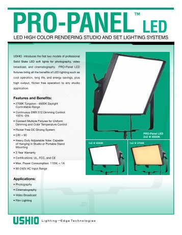 Ushio Pro-Panel LED - Premier Lighting and Production Company