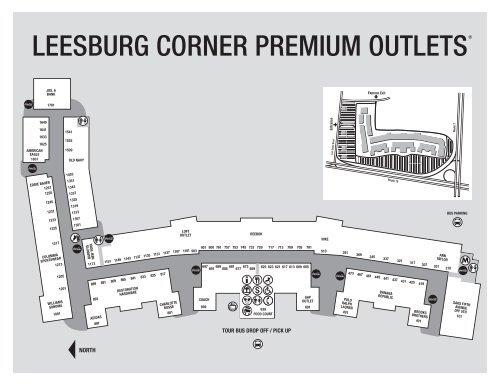 Leesburg Outlets Map leesburg corner premium outlets