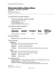 Material Safety Data Sheet - Premier Dental