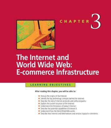 The Internet and World Wide Web: E-commerce Infrastructure