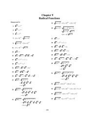 Chapter 9 Radical Functions