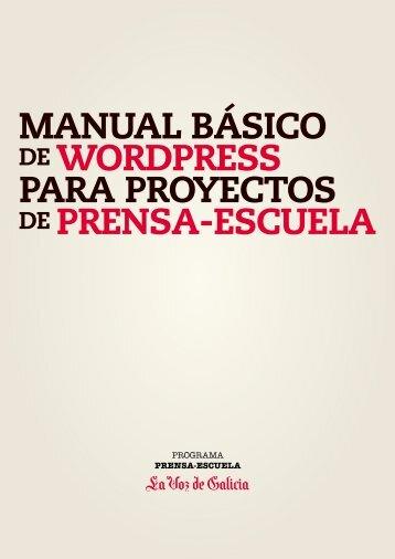 MANUAL BÁSICO DE WORDPRESS PARA ... - Prensa-Escuela