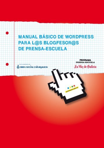manual básico de wordpress para l@s blogfesor - Prensa-Escuela
