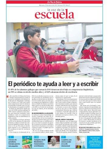 El periódico te ayuda a leer y a escribir - Prensa-Escuela