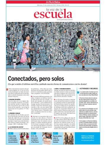 Conectados, pero solos - Prensa-Escuela