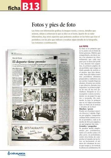 Fotografías y pies de foto - Prensa-Escuela