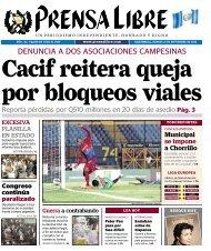 DENUNCIA A DOS ASOCIACIONES CAMPESINAS - Prensa Libre