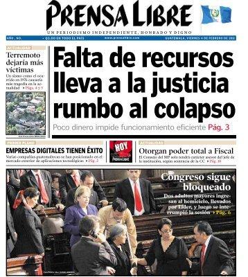 Congreso sigue bloqueado - Prensa Libre