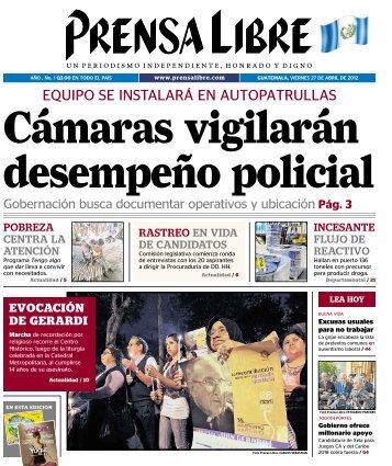 EQUIPO SE INSTALARÁ EN AUTOPATRULLAS - Prensa Libre