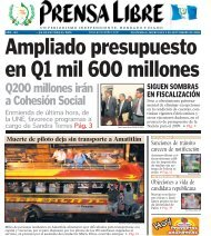 Q200 millones irán a Cohesión Social - Prensa Libre