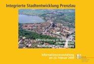 Anlage 5 Präsentation Integrierte Stadtentwicklung ... - Stadt Prenzlau