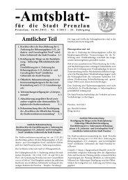 Amtsblatt 1-2013 - Stadt Prenzlau