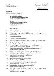 Einladung SVV 05.11.2009 - Stadt Prenzlau