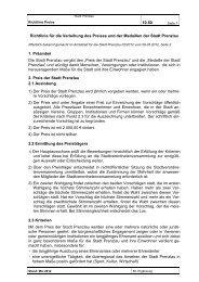 Satzung 10.50 Richtlinie fuer die Verleihung (17.1 ... - Stadt Prenzlau