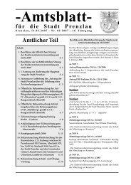 Amtsblatt 02-2007 - Stadt Prenzlau