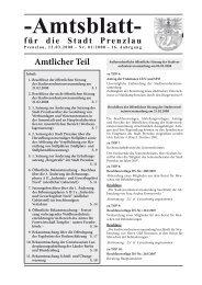 Amtsblatt 01-2008 - Stadt Prenzlau
